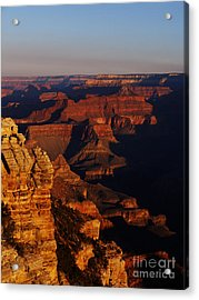Grand Canyon Sunset Acrylic Print by Holger Ostwald