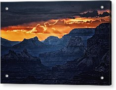 Grand Canyon Sunset Acrylic Print by Joe Urbz