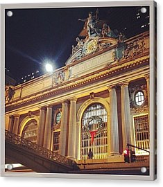 Grand Central Christmas Wreath Acrylic Print
