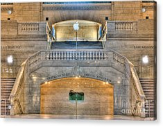 Grand Central Terminal East Balcony I Acrylic Print by Clarence Holmes