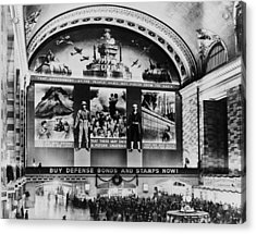 Grand Central Terminal Mural. A Huge Acrylic Print by Everett