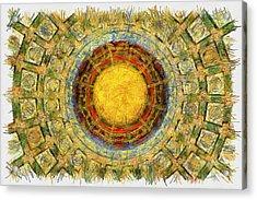 Grand China - Pencil Acrylic Print by Nicholas Evans