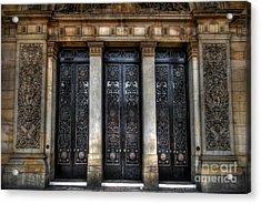 Grand Door - Leeds Town Hall Acrylic Print by Yhun Suarez