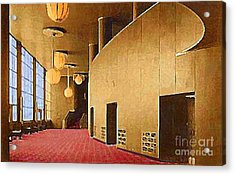 Grand Foyer In The Center Theatre In New York City 1940 Acrylic Print by Dwight Goss