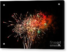 Grand Haven Mi Fireworks Acrylic Print by Robert Pearson