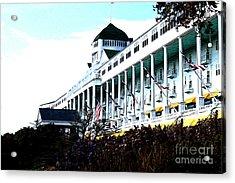 Acrylic Print featuring the photograph Grand Hotel Mackinac Island by Anne Raczkowski