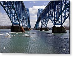 Acrylic Print featuring the photograph Grand Island Bridges by Darleen Stry