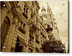Grand Place Perspective Acrylic Print by Carol Groenen
