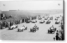 Grand Prix Start Acrylic Print by Central Press