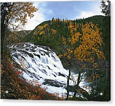 Grand-sault Falls On Madeleine River Acrylic Print by Yves Marcoux