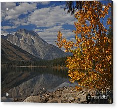 Grand Teton National Park Fall Cloud Mountain Reflections Acrylic Print