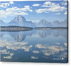Grand Teton National Park Mountain Lake Reflctions Acrylic Print