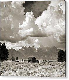 Grand Tetons Jackson Barn Acrylic Print