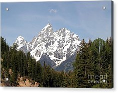 Acrylic Print featuring the photograph Grand Tetons by Living Color Photography Lorraine Lynch