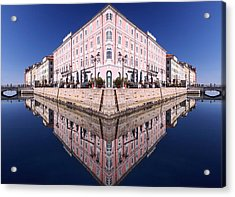 Acrylic Print featuring the photograph Grande Canal Trieste by Graham Hawcroft pixsellpix
