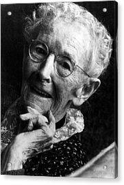 Grandma Moses 1860-1961, Renowned Acrylic Print by Everett