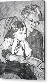 Grandma Reading Acrylic Print