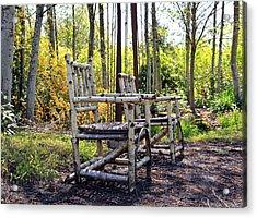 Grandmas Country Chairs Acrylic Print by Athena Mckinzie