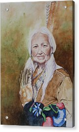 Grandmother Many Horses Acrylic Print by Patsy Sharpe