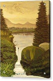 Grandpa Mountain Acrylic Print by Mitzi Foreman