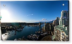 Acrylic Print featuring the photograph Grandville Island In Yaletown Bc by JM Photography