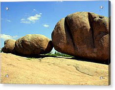 Granite Boulders 2  Acrylic Print by Marty Koch