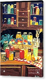 Acrylic Print featuring the painting Granny's Cupboard by Julie Brugh Riffey