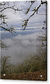Grants Pass In The Fog Acrylic Print by Mick Anderson