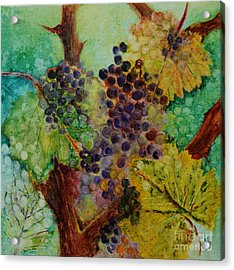Grapes And Leaves V Acrylic Print