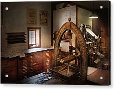 Graphic Artist - Graphic Workshop  Acrylic Print by Mike Savad