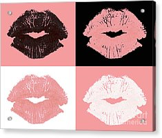 Graphic Lipstick Kisses Acrylic Print by Blink Images