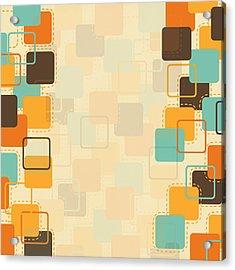 Graphic Square Pattern Acrylic Print by Setsiri Silapasuwanchai