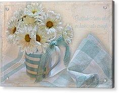 Gratitude Acrylic Print by Sandra Rossouw
