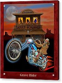 Grave Rider Acrylic Print by Glenn Holbrook