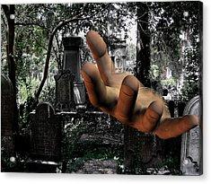 Grave Yard Hand Acrylic Print by Tea Aira
