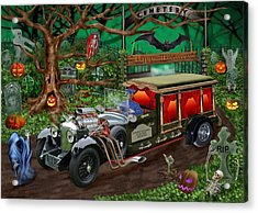 Graveyard Ghost Tours Acrylic Print by Glenn Holbrook