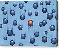 Gravity, Conceptual Artwork Acrylic Print by Richard Bizley
