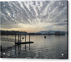 Acrylic Print featuring the photograph Gray Day On Bellingham Bay by Karen Molenaar Terrell