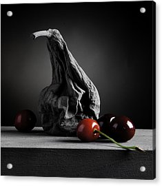 Gray Variations - Ages Acrylic Print by Ovidiu Bastea