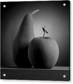 Gray Variations - Apples Acrylic Print by Ovidiu Bastea