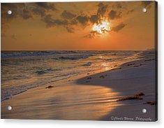 Grayton Beach Sunset 7 Acrylic Print by Charles Warren