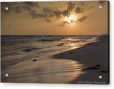 Grayton Beach Sunset Acrylic Print by Charles Warren