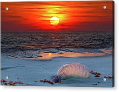 Grayton Beach Sunset IIi Acrylic Print by Charles Warren