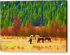 Acrylic Print featuring the digital art Grazing by Brian Davis