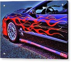 Greased Lightning Acrylic Print