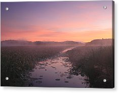 Great Meadows National Wildlife Refuge Dawn Acrylic Print by John Burk