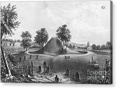 Great Mound At Marietta, 1848 Acrylic Print by Photo Researchers