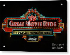 Great Movie Ride Neon Sign Hollywood Studios Walt Disney World Prints Poster Edges Acrylic Print