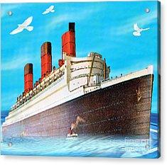Great Ocean Liner Acrylic Print by Belinda Threeths