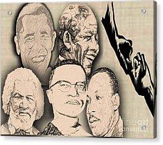 Great Powerful African American Men Acrylic Print by Belinda Threeths